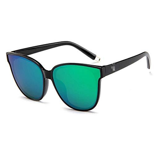 Passionate turkey Leidenschaftliche Truthahnmode-Frauen färben Luxuskatzenaugen-Sonnenbrille der flachen Oberseite Elegante oculos de Sol-Mannzwillingsstrahl-übergroße Sonnenbrille, Grün 4-Black