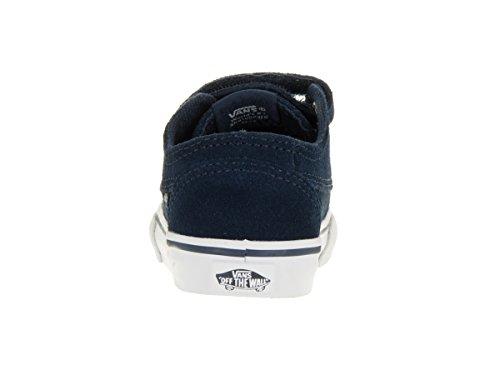 Vans Brigata V Infant White Leather Trainers (suede) dress blues/true white