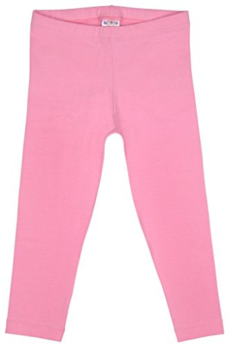 Mädchen kurze Capri Tights Perfect Fit Baumwolle/Lycra, Pink, M 4-6 Jahre (Tights Capri Footless)