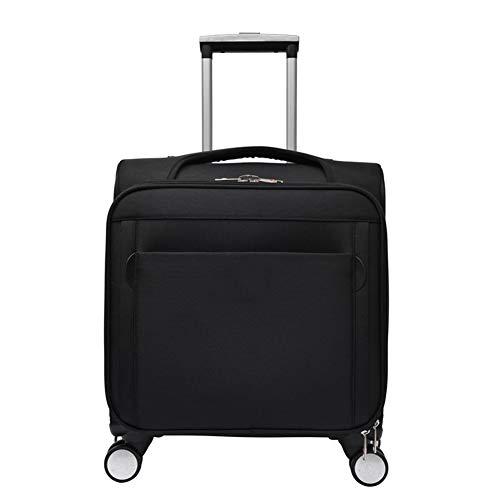 CDZNIU Business Travel Trolley, leichte wasserdichte Trolley-Tasche aus Polyester, rollende Laptop-Tasche mit Passwortsperre für das Gepäck des Reisebüros-black -