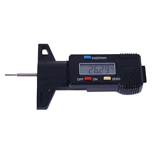 Foru-1 Digitaler Reifenprofil-Messschieber, Messschieber, LCD-Display, 0-25,4 mm