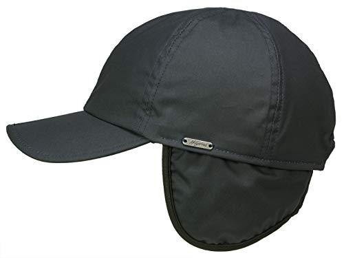 Wigens Baseball Cap mit Ohrenklappen aus gewachster Baumwolle - Marine (409) - 60-61 cm (XL)