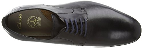 Clarks Banfield Walk, Chaussures de ville homme Noir (Black Leather)