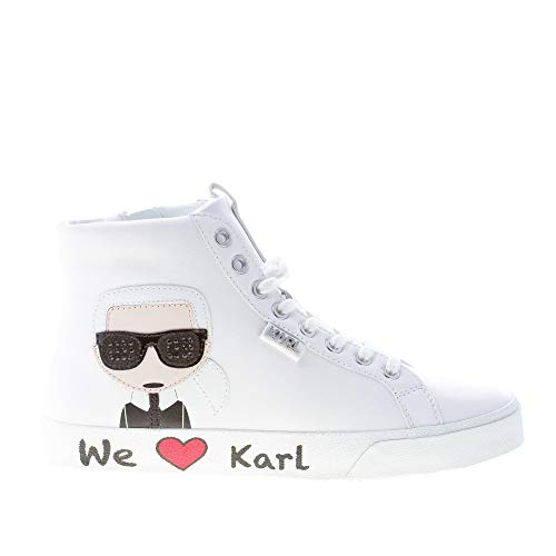 Karl Lagerfeld Skool Karl Ikonic Hi Lace Weiß Damen Sneakers-UK 6 -
