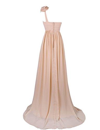 Dresstells, Robe de soirée Robe de cérémonie Robe de gala épaule asymétrique bustier en coeur traîne moyenne une ligne avec fleur Lilas