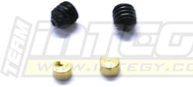 Integy RC Model Hop-ups T3169 Brass Insert & & & Set Screw (2) for 1/10 Revo, E-Revo, Summit & Slayer(Both) Arm | Dans De Nombreux Styles