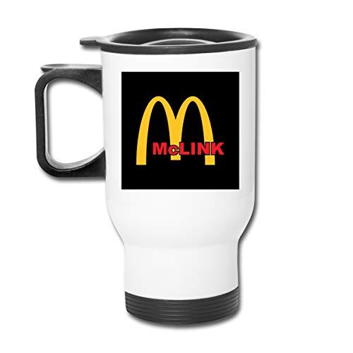 Legend of Zelda McLink McDonalds Doppelwandiger Vakuum-Kaffeebecher mit spritzwasserfestem Deckel für heiße und kalte Getränke