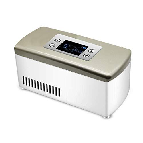 Preisvergleich Produktbild Mini-Kühlschränke Insulin-Kühlbox Home Car Refrigeration Wiederaufladbare Smart Small Refrigerator Tragbare tragbare Interferon-Medikamente (Farbe: Gold,  Größe: 21 * 10 * 9, 5 cm)