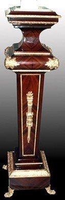 LouisXV Barock Säule Blumenständer Rokoko MoStL0419 antik Stil Massivholz. Replizierte Antiquitäten Buche (Ahorn, Mahagoni, Eiche) Antikmessing Beschläge, furniert, intarsiert