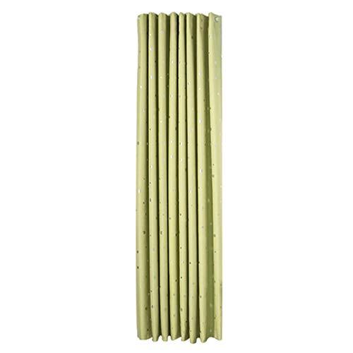 Renile Hot Stamping Vorhang, Schneeflocken-Motiv, einfarbig, Weiß, grün, 240x135cm