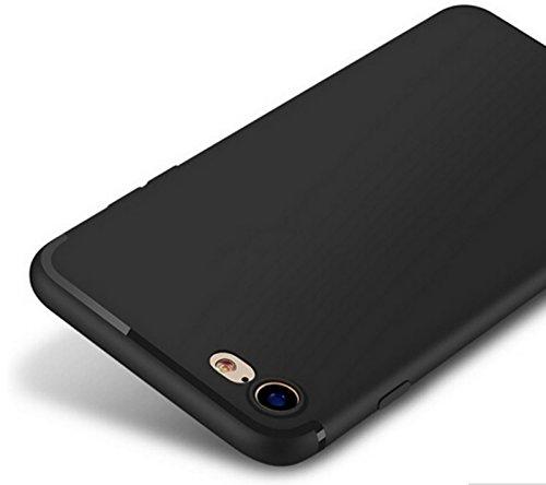 aquis|store Kompatibel mit iPhone 6 Hülle, iPhone 6-S Hülle, Case schwarz matt Silikon Dünn Slim Edel Schutz Kratzfest Anti-Fingerabdruck -
