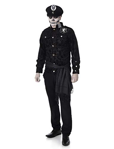 Cop Halloween Kostüm - Deluxe Zombie Officer Mens Fancy Dress
