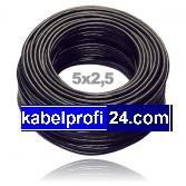 Preisvergleich Produktbild Erdkabel Schwarz NYY-J 5x2,5 Starkstromkabel, 25 meter