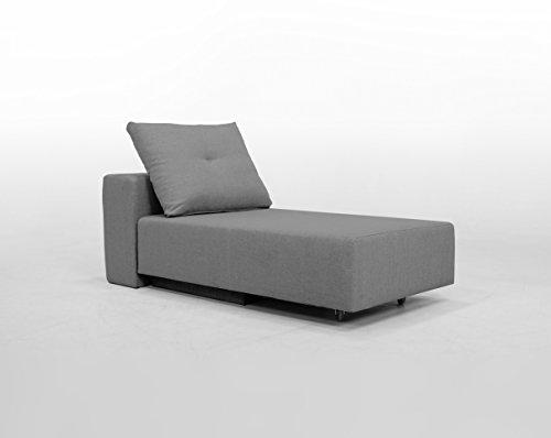 Minisofa BonBon2 - kleines Sofa Recamiere Schlafsofa - pflegeleichter weicher Mikrofaserstoff in grau, Kissen im Lieferumfang enthalten (mittelgrau)