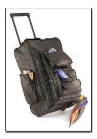 Embassy Italian Stone Design Genuine Leather Trolley Backpack