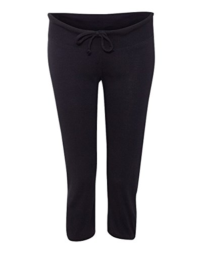Pantalon été 3/4 Femme Capri Bella + Canvas Black