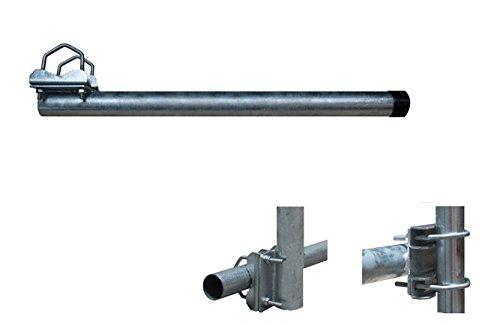 PremiumX Balkon-Halter 80cm Ø 48mm Aluminium Mast Geländer-Halterung für Satelliten-Schüssel SAT-Antenne Satelliten-Anlage Sat-Spiegel Ausleger - auch nutzbar als Mastaufsatz Mast-Verlängerung -