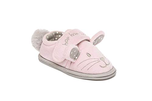 Girls Slippers Mules Fleece 3D Animal Fluffy Warm Size 10 11 12 13 1 2 3 UK