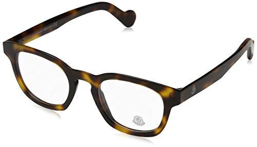 Moncler Unisex-Erwachsene Brillengestelle Ml5017, Braun (Avana SCURA), 48