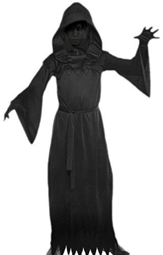 erdbeerloft - Jungen Phantom der Finsternis Kostüm, Halloween, 128, (Kleinkind Robe Schwarzen Kostüm)