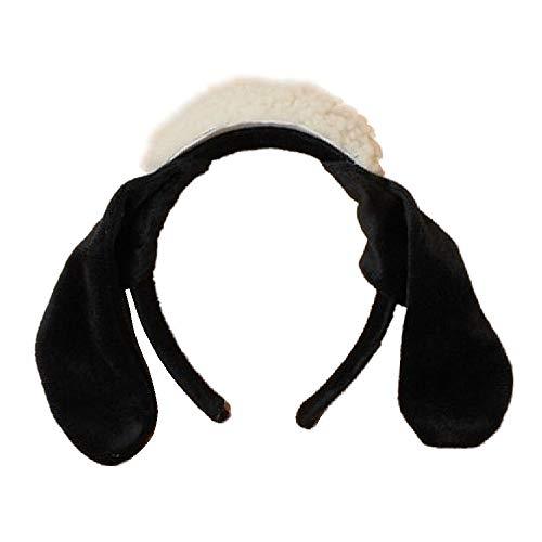 Schaf Ohren Kostüm - Haarreif, mit Schaf, mit Hut und Ohren, Schwarz/Weiß