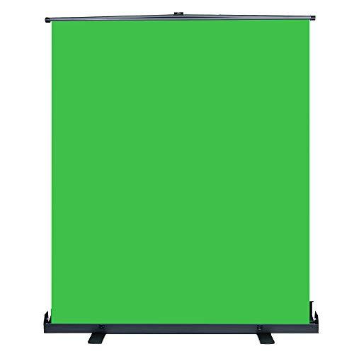 Green Screen Hintergrund 200x154cm, Hakutatz Ausfahrbares Greenscreen mit Chromakey Effekt für Youtbube Video Fotostudio -