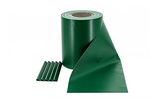 Rotolo Frangivista & Frangivento in PVC per Recinzione da Giardino a Doppia Barra | Colore: Verde | Lunghezza: 35 metri