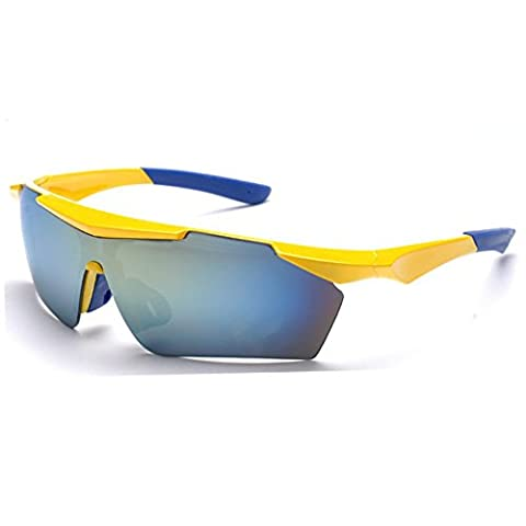 Z-P Classical Unisex Outdoor Sports Style Bicycle Driving Night Vision Explosion Protection Sunglasses 65MM