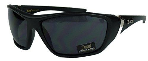 LOCS® Herren Sonnenbrille sportlicher Style in matt schwarz 90