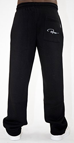Redrum Jogginghose Sweatpants casual Pant Plain schwarz anthrazit grau bis Größe 4XL Schwarz