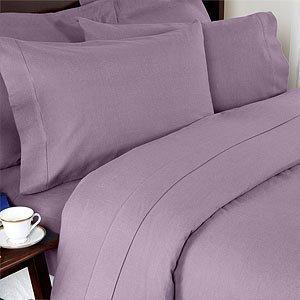 Elegant Comfort Bettlaken-Set, Knitter- und lichtbeständig, Fadenzahl 1500, ägyptische Qualität, luxuriös, seidig weich, 4 Stück, Tiefe Tasche bis 40,6 cm, Lila California King -