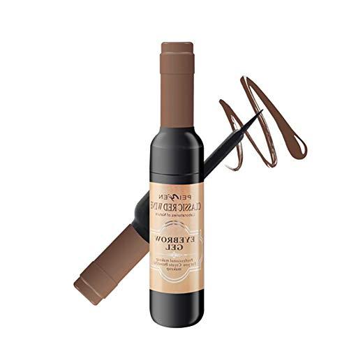 1PC Tätowierung Augenbrauen-Gel Peel Off natürliche Augenbraue Langlebige Braue Gel Wasserdicht Tint Färbecreme Weinflasche Design-Dye-Creme (Dark Brown)