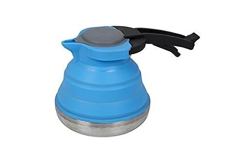 Bo-Camp Cuisine BC Bouilloire Silicone/Inox pliable Blue