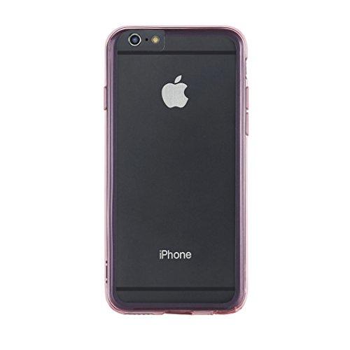 Aiino Jellies Schutzhülle Handyhülle Cover Case für Apple iPhone 6 Plus - Clear Rot