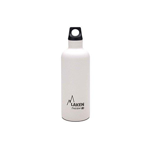 Laken Futura Botella Térmica Acero Inoxidable 18/8 y Doble Pared de Vacío, Unisex adulto, Blanco, 500 ml