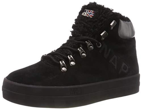 Napapijri Footwear Damen Dahlia Hohe Sneaker, Schwarz (Black N00), 38 EU
