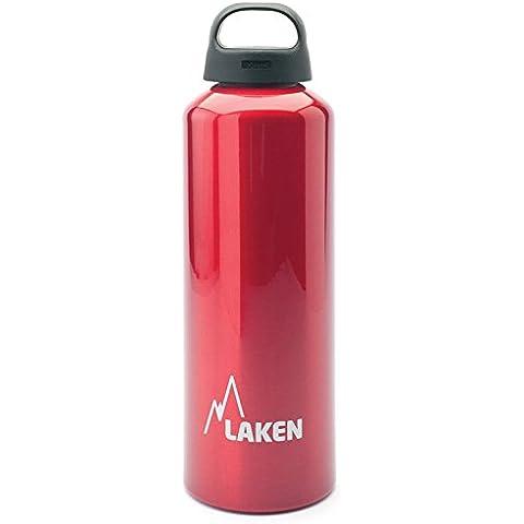 Botella Classic de Laken con tapón de rosca, anillo y boca ancha 1 L Rojo