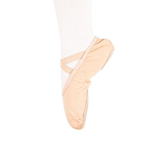 Weicher Ballettschläppchen Tanz geteilte Ledersohle Schuhe Gymnastik Tanzen Hausschuhe für Mädchen Frauen Damen (Hellrosa, EU 29=195mm=7 2/3 inch=UK 11)