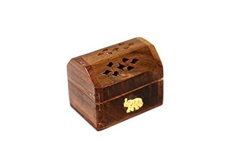 Haute Qualité Mini Boîte de brûleur d'encens en bois de