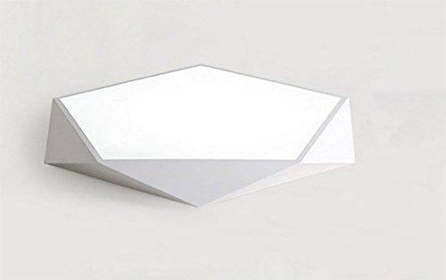 QMZB Deckenleuchte LED 12W Bürodeckenleuchte Für Wohnzimmer Flur Badezimmer Kaltweiss Die Größe Beträgt 30 cm,White