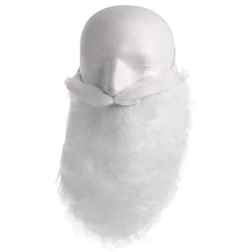 Smartfox Nikolausbart Plüschbart Zottelbart Rauschebart Santa Claus Weihnachtsmannbart in weiß