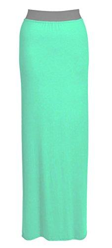 Neue Damen Gypsy Langes Jersey Maxi Kleid Damen Gypsy Rock Plus Größen 16–26 Mint