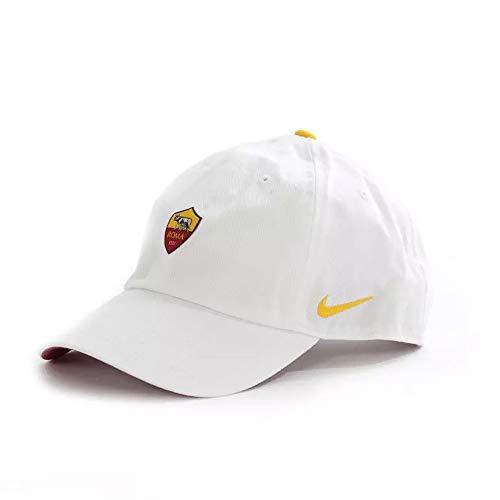 2e41fe09b28b3a Nike Erwachsene A.S. Rom Heritage86 Kappe, White/Team Crimson/University  Gold, One