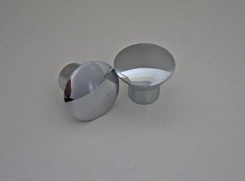 Möbelknopf Möbelgriff Schubladenknopf Knopf Chrom glänzend ø 23mm Gesamthöhe 20mm (Glänzende Möbelknöpfe)