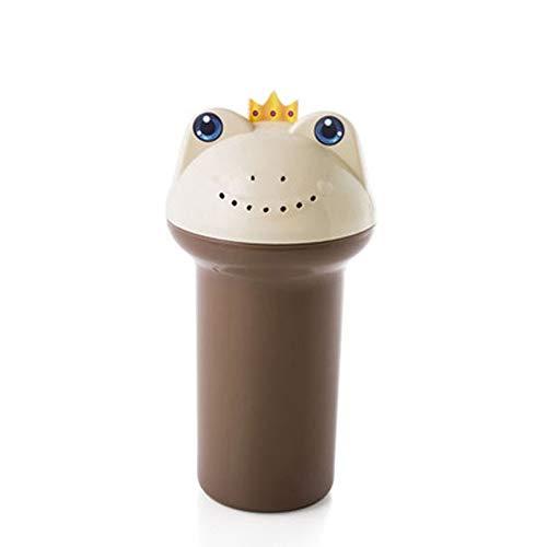 ZXCMNB Gartengeräte Griff Frosch Form gekrümmt Dosen Baby Shampoo Cup kreativer Bewässerung Dusche Wasser Löffel Baby Shampoo Sprühflasche Badewanne Dusche Wasser Scoop Sprayer -