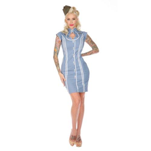 Voodoo Vixen Kleid DRA2134 skyblue L