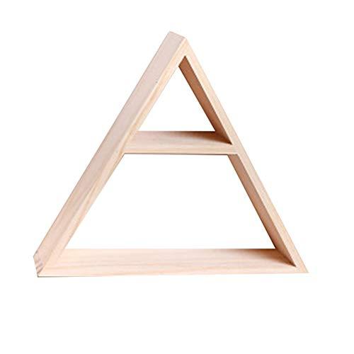 Yippel, mensola triangolare in legno da parete, scaffale decorativo per la casa henggang.