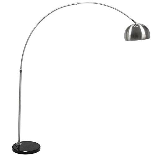 Einstellbare LED Eisen Stehlampe Arc Stehlampe Marmor Basis Stehlampe Edelstahl Stehlampe Wohnzimmer Sofa Restaurant Stehlampe (Einstellbare Arc)