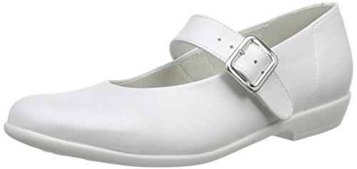 DäumlingMia - Ballerine Bambina , Bianco (Weiß (Perlato weiss71)), 34
