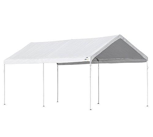 ShelterLogic Carport, Canopy, Überdachung, Pavillon in-a-Box 18,3 m² weiß // 300x610x290 cm (BxTxH) // Foliencarport & Gartenpavillon mit extra schnellem Aufbau